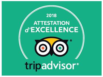 certificat excellence 2018 tripadvisor FR